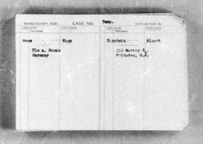 Collection of 40,000 Deposit Cards from the World War II Era Features Albert Einstein Record
