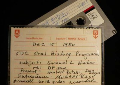 Oral History Collection Sheds New Light on JDC's Past