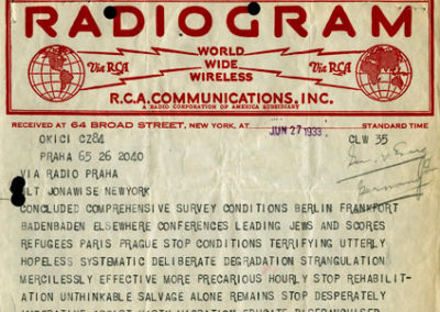 """Conditions Terrifying Utterly Hopeless"": A 1933 Telegram"