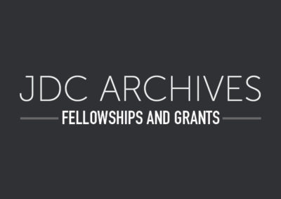 2017 JDC Archives Fellows Announced