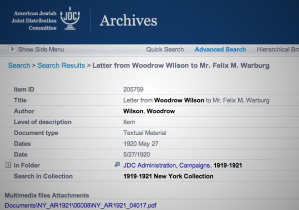 Lists in the Names Index | JDC Archives