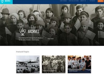 JDC Archives Launches Updated Website